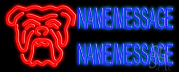 Custom Bull Dog Neon Sign