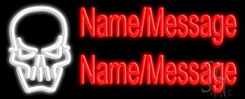 Custom Skull Neon Sign