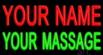 Custom Massage Neon Sign
