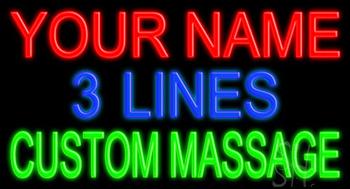 Custom Green Massage Neon Sign