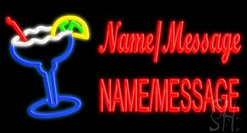 Custom Name Margarita Glass Neon Sign
