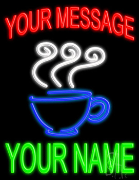 Custom Coffee Cup Neon Sign