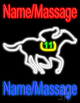 Custom Horse Race Neon Sign