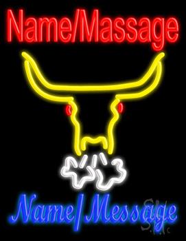 Custom Snorting Bull Neon Sign