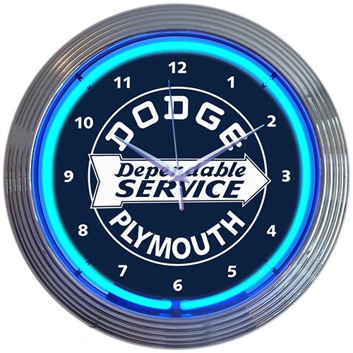 Dodge Service Neon Clock
