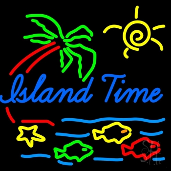 neon island sign signs custom business enlarge