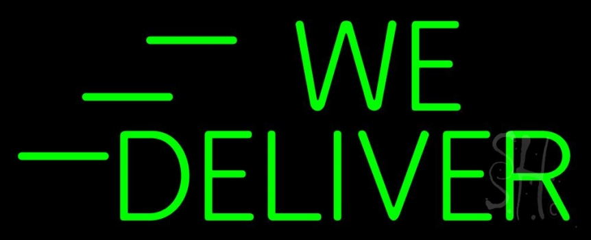 b14f30d39c2d Green We Deliver Neon Sign