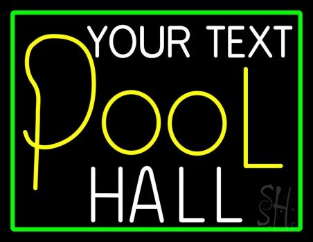 Custom Pool Hall Neon Sign