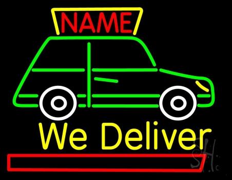 Custom We Deliver Van Neon Sign