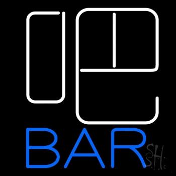 Block Bar With Beer Mug Neon Sign