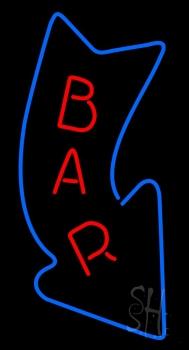 Curve Bar With Arrow Neon Sign