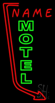 Custom Green Motel Neon Sign
