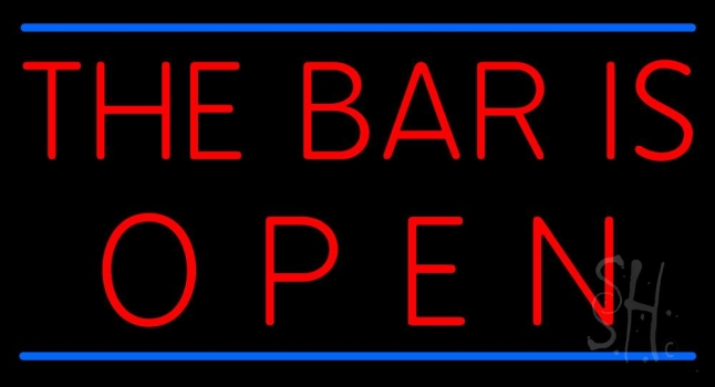 The Bar Is Open Neon Sign Bar Open Neon Signs Every