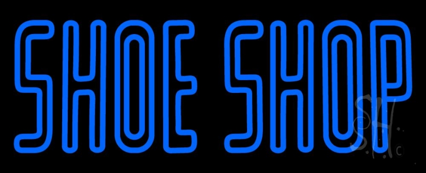 Blue Double Stroke Shoe Shop Neon Sign