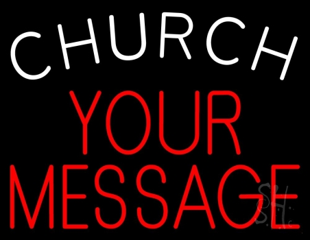 Custom Church White Neon Sign
