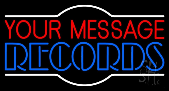 Custom Double Stroke Records Neon Sign