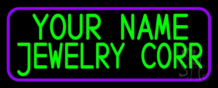 Custom Jewelry Purple Border Neon Sign