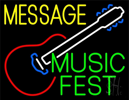 Custom Music Fest Green Neon Sign