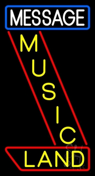 Custom Music Land Yellow Neon Sign