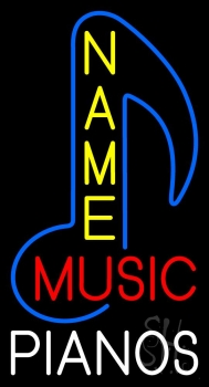 Custom Music Pianos Neon Sign