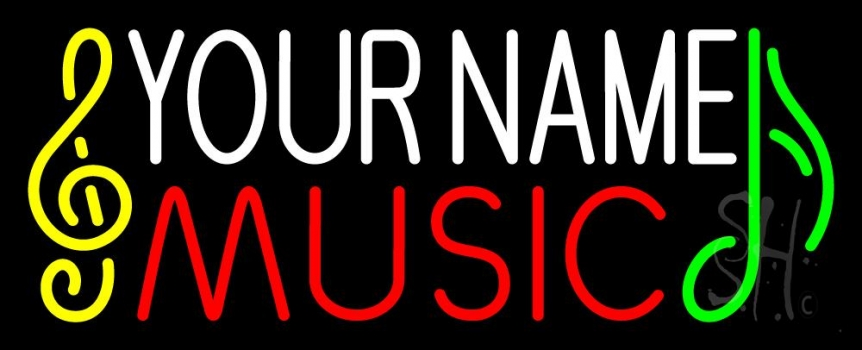 Custom Music Red Note Neon Sign