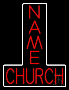 Custom Red Church Neon Sign