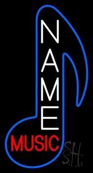 Custom Red Music Blue Logo Neon Sign