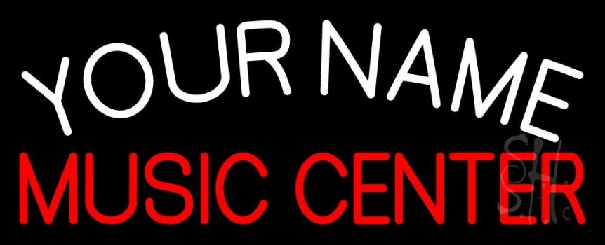 Custom Red Music Center Neon Sign