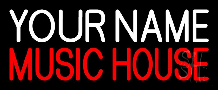 Custom Red Music House Neon Sign