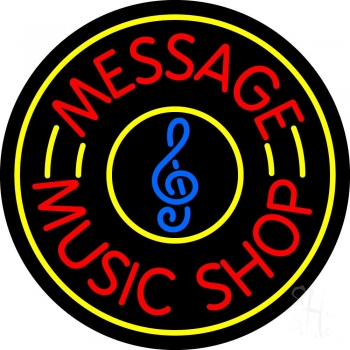 Custom Red Music Shop Neon Sign