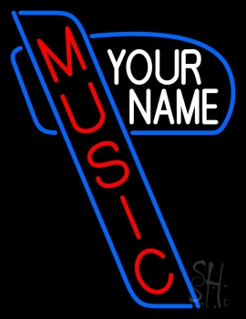 Custom Red Music Vertical Neon Sign