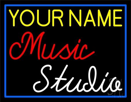 Custom Red Music White Studio Neon Sign