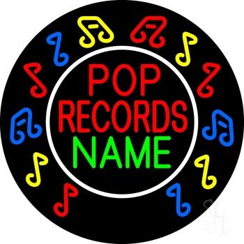 Custom Red Pop Records Neon Sign