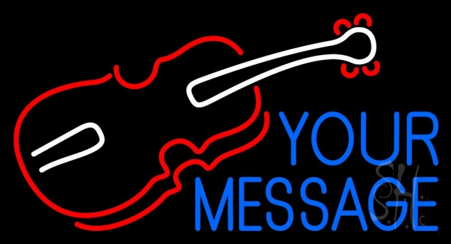 Custom Violin Logo Neon Sign