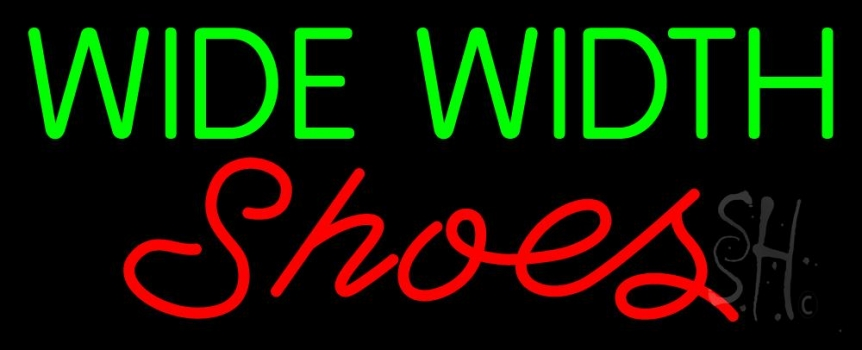 Green Wide Width Red Shoes Neon Sign
