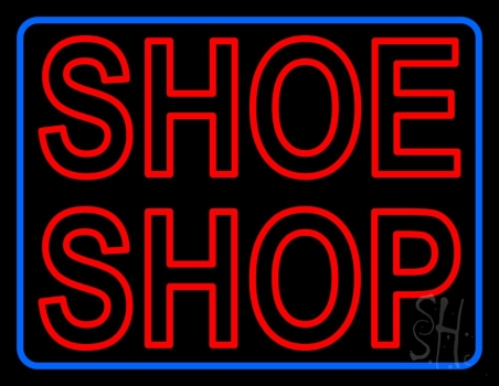 Red Double Stroke Shoe Shop Neon Sign