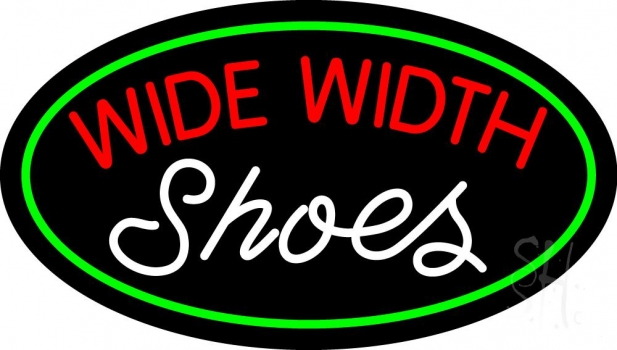 Red Wide Width White Shoes Neon Sign