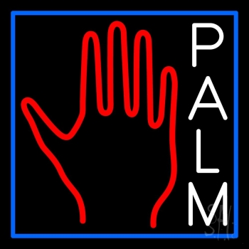 White Palm With Logo Neon Sign