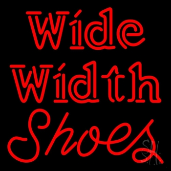 Wide Width Shoes Neon Sign
