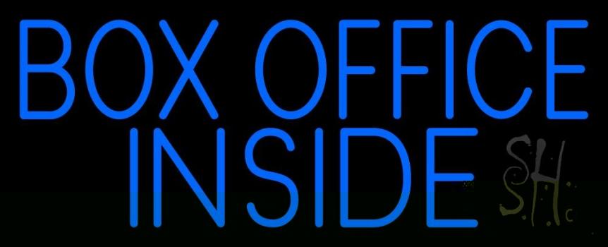 Blue Box Office Inside Neon Sign