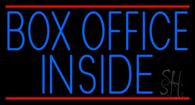Box Office Inside Neon Sign