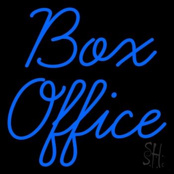 Cursive Box Office Neon Sign