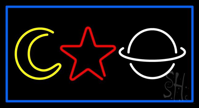 Psychic Logos Blue Border Neon Sign