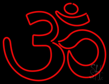 Red Om Neon Sign