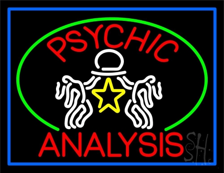 Red Psychic Analysis With Logo Neon Sign