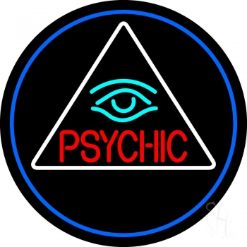 Red Psychic With Turquoise Eye Neon Sign