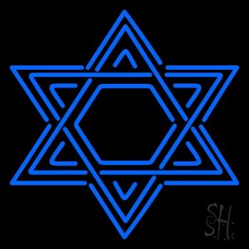 Star Of David Judaism Neon Sign