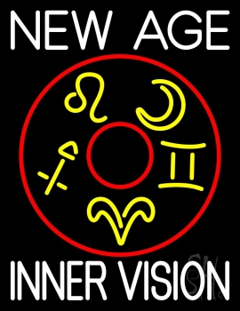 White New Age Inner Vision Neon Sign