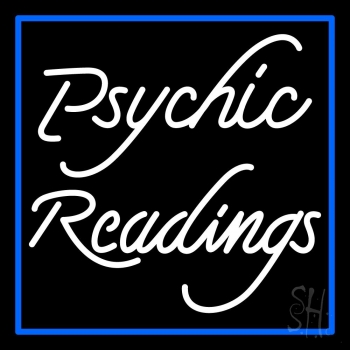 White Psychic Readings With Border Neon Sign