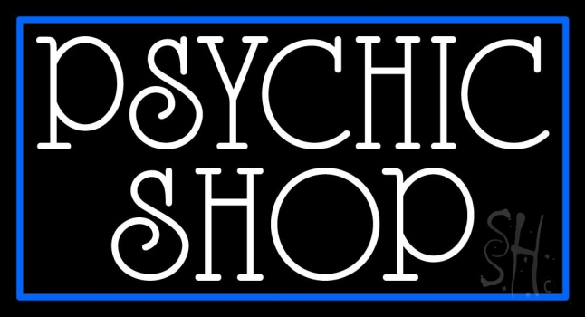 White Psychic Shop Neon Sign
